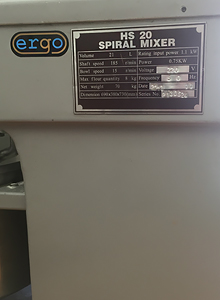 Ремонт спирального тестомеса ERGO